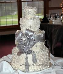 silver wedding cakes stylish silver wedding cake designs