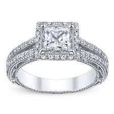 Fake Wedding Rings by Verragio Venetian Afn 5007p Halo Pave Engagement Ring