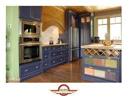 facades de cuisine armoire de cuisine de couleur bleu provence avec les façades de