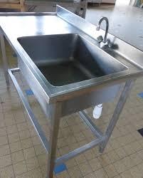 meuble cuisine inox professionnel meuble de cuisine avec evier 7 evier table inox professionnel