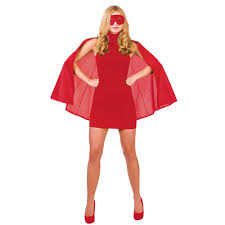short superhero fancy dress halloween costume cape and eye