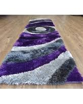 Purple Rug Runners Amazing Deal On Beautiful Shaggy Rug Runner Featuring Colorful