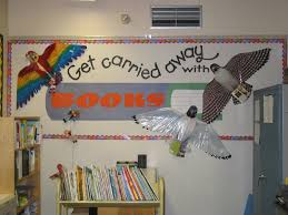 Classroom Soft Board Decoration Ideas Carried Away With Books Library Bulletin Board Myclassroomideas Com