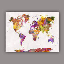 World Map Art Print by Compare Prices On World Map Canvas Colorful Online Shopping Buy