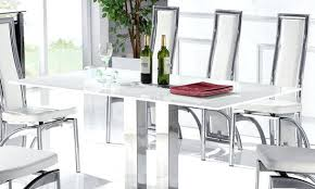 chrome dining room sets large glass dining table endearing ii large white glass dining table