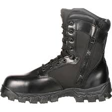 waterproof biker boots alphaforce zipper waterproof duty boot by rocky boots fq0002173