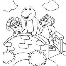 barney love ice cream coloring pages barney love ice cream