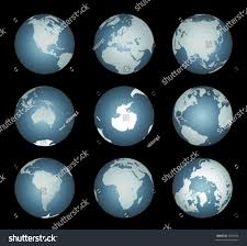 Accurate World Map by World Continentsvector Accurate Map Onto Globe Stock Vector