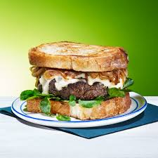 rachael ray thanksgiving leftovers burger of the month buttery burgers u0026 onions on toast recipe