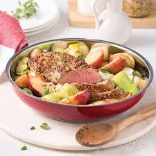 poireaux cuisine one pot au porc poireaux et pommes caramélisés à l érable