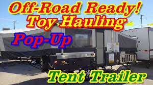 jeep pop up tent trailer evolution e2 toy hauler pop up tent camper at the 2017 dallas rv