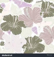 hibiscus flowers beige colors watercolor painting stock
