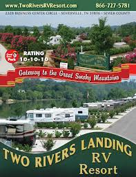 resort two rivers landing rv resort in sevierville tennessee