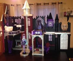 Monster High Doll House Furniture How To Make A Monster High Castle From A Barbie Castle Youtube
