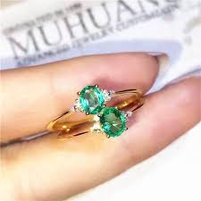 emerald rings wholesale images Emerald ring 925 sterling silver natural real emerald fine green jpg