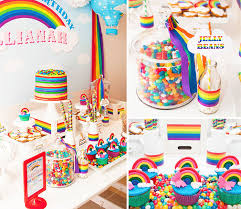 Rainbow Themed Birthday Favors by Rainbow Themed 1st Birthday Of Fabulous Ideas Via