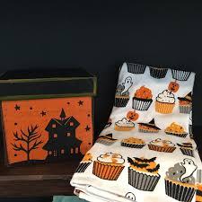 halloween cupcakes tea towel american halloween decorations