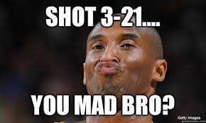 Kobe Rape Meme - shot 3 21 you mad bro kobe bryant duckface quickmeme