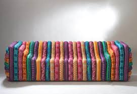 multi colour striped bubble sofa from versace home fab