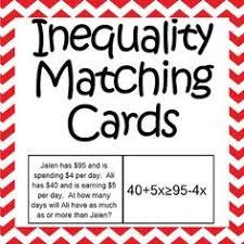 inequality word problems chart math tutoring aids pinterest
