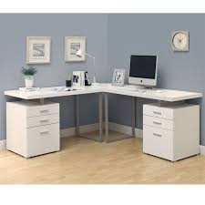 bush series c l shaped bow desk bundle w three drawer pedestal