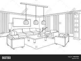 home interior furniture with sofa armchair table living room