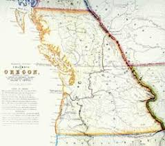 map of oregon country 1846 oregon territory establishment of historylink org