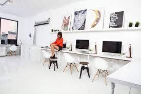 Simple White Desk by Long White Desks 7337