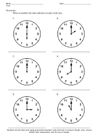time theme worksheet sample