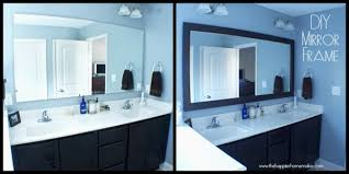 how to frame a bathroom mirror with molding add trim to bathroom mirror beautiful diy bathroom mirror frame with