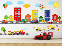 construction wall decal truck wall decal transportation zoom