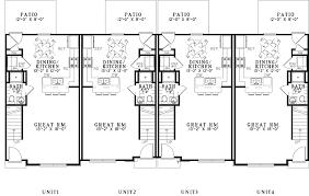 Multi Unit Floor Plans Carson Place Rustic Fourplex Plan 055d 0908 House Plans And More