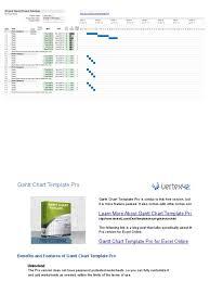 Project Management Gantt Chart Excel Template 100 A Gantt Chart In Excel Free Marketing Plan Templates
