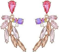 swag earrings betsey johnson reptiles alligator swag earrings pink antique gold