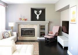 art gallery wall ideas above fireplace for small family room