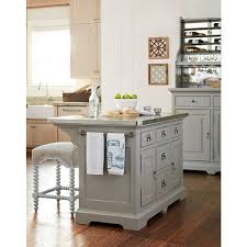kitchen island overstock dogwood the kitchen island in cobblestone finish free shipping