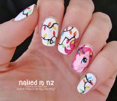 Christmas Light Nails by Pinkie Pie Nail Art My Little Pony Christmas