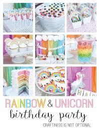 unicorn party supplies rainbow unicorn birthday party supplies best 25 rainbow unicorn