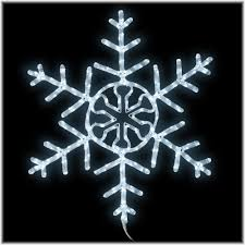 36 inch led white rope light snowflake sculpture large outdoor