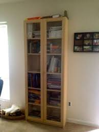 Beech Billy Bookcase Ikea Shelves With Doors Billy Nyckelby Bookcase With Glass Doors