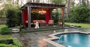 Backyard Pool Images by Cool Swimming Pool Cabanas Intheswim Pool Blog