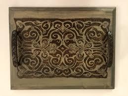wooden decorative tray coffee table tray coaster tray ottoman