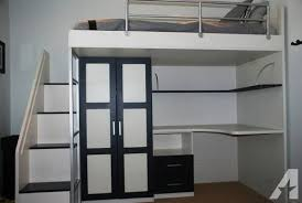 Bunk Beds With Built In Desk Contemporary Loft Bed W Built In Desk And Closet For Sale In