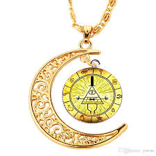 color necklace images Wholesale hot gold color necklace moon gros bill cipher wheel jpg