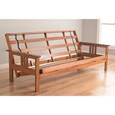 somette beli mont multi flex honey oak full size futon frame and