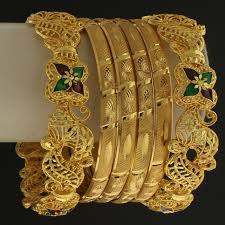 wedding gold set gold tone wedding bridal bangle indiatrend for 18 99usd