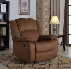 amazon com nhi express samantha microfiber recliner brown