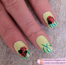 spring ladybug nail art design nail art by make nail art