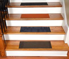 stair straight stair design with brown wooden treads and gray anti