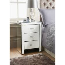 Bedroom Mirror Furniture by Florence 3 Drawer Bedside Table Table Furniture Cheap Furniture